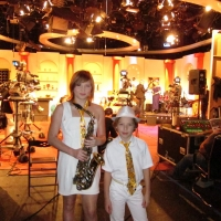 2012.11.04 Alika, TimoTi: На съемках программы 7:40, 9 канал, Израиль