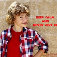 keep calm and never give up - Copy